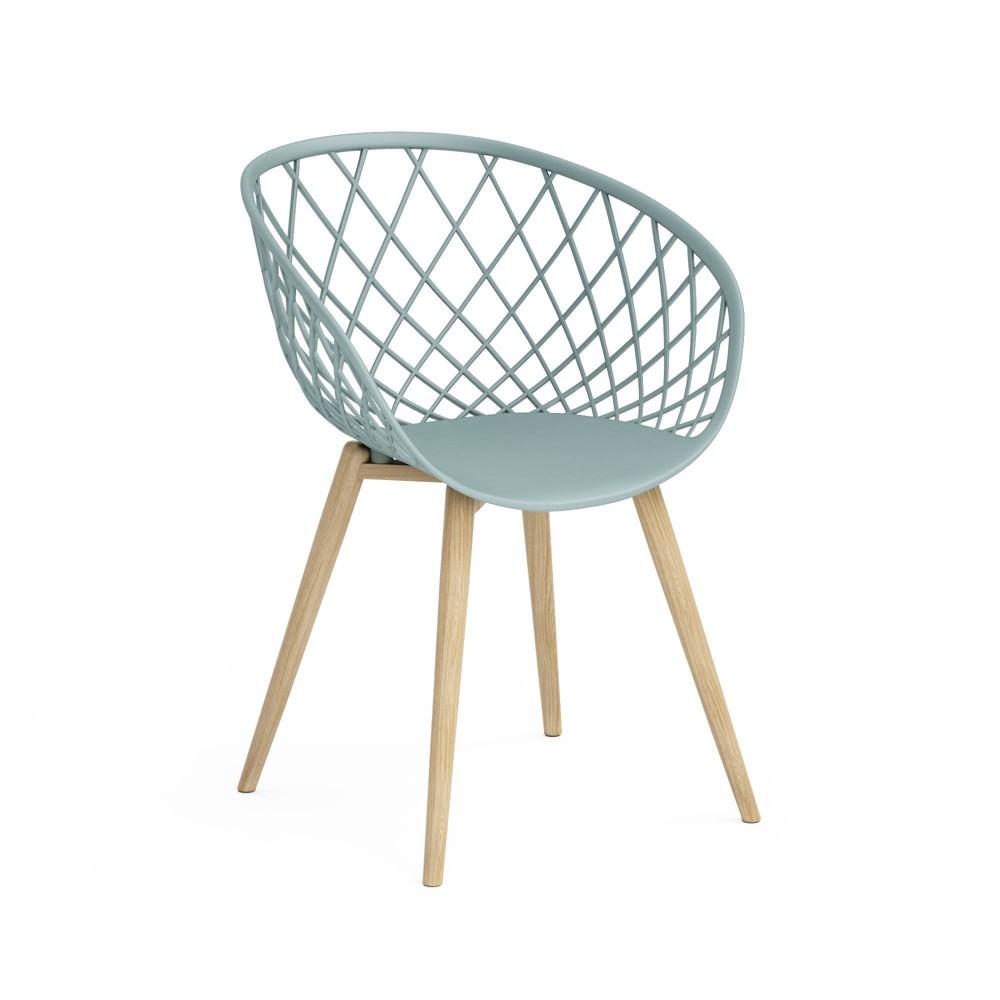 Image of Set of 2 Kurv Chair Cool Sage/Natural - Jamesdar