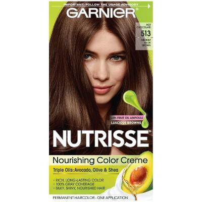 Garnier Nutrisse Nourishing Permanent Hair Color Creme Dark Nude