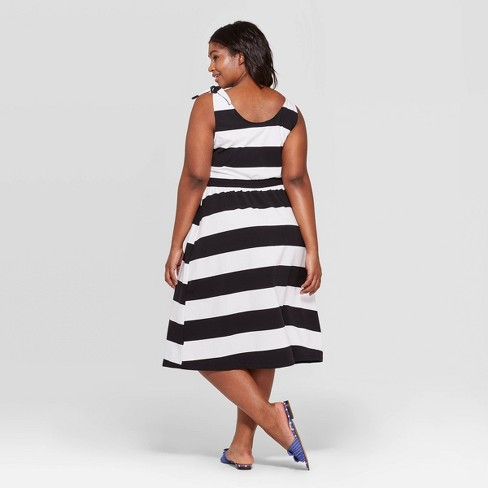 0787e475adf Women s Plus Size Striped Scoop Neck Maxi Dress - Who What Wear ...