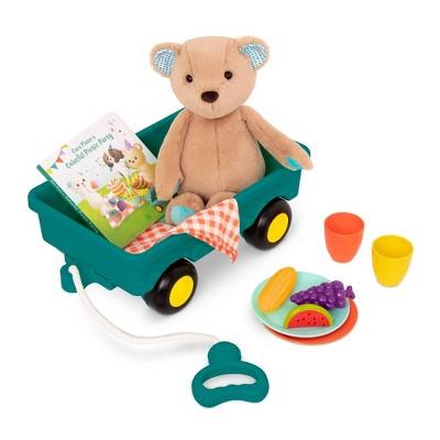 B. toys Teddy Bear, Board Book & Picnic Set - Happyhues Cara Mellow Bear