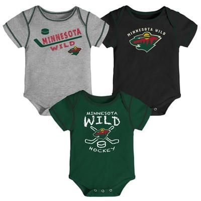 NHL Minnesota Wild Baby Boys' Game Winner Bodysuit Set 3pk