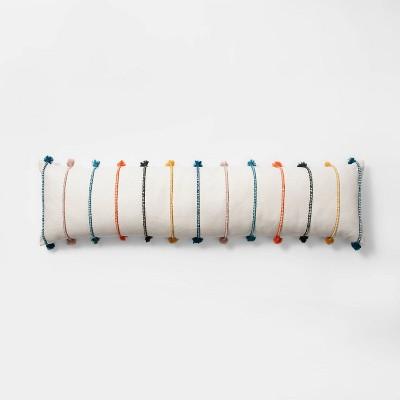 Lumbar Stripe Tassel Bed Lumbar Pillow Cream - Opalhouse™