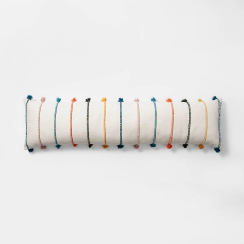 Lumbar Stripe Tassel Bed Lumbar Pillow Cream  - Opalhouse™ - image 1 of 3