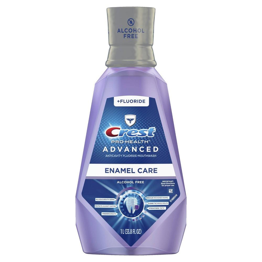 Crest Pro Health Advanced Mouthwash Alcohol Free Enamel Care 33 8 Fl Oz