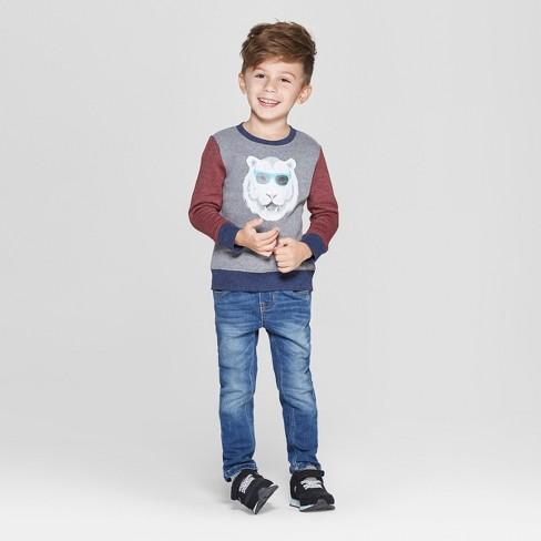 f53047f0f Toddler Boys' Fleece Crew Tiger Graphic Sweatshirt - Cat & Jack ...