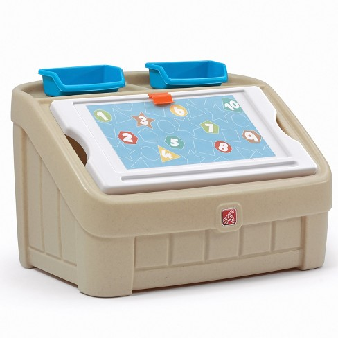 Step2 2 in 1 Toy Box - Tan - image 1 of 4