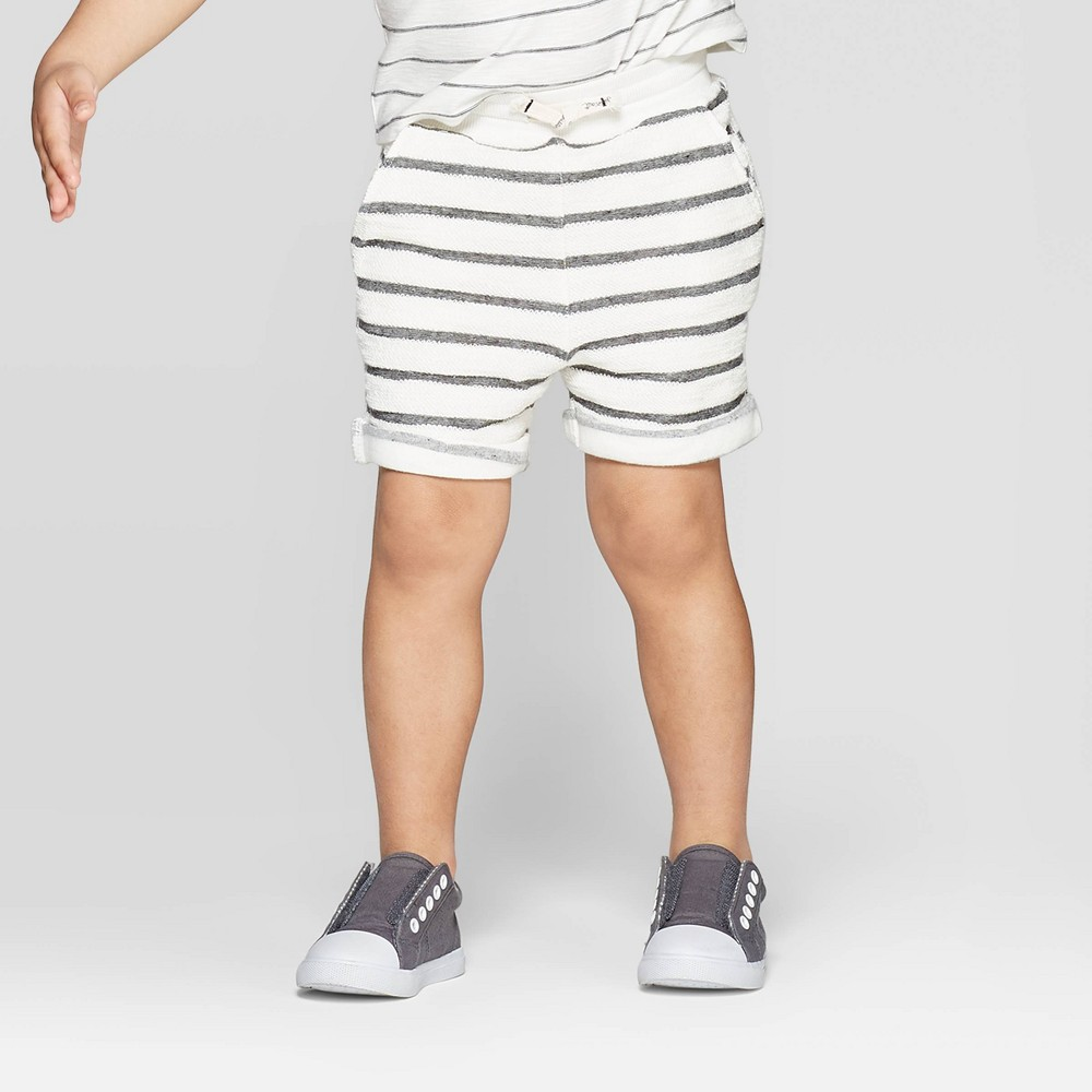 a300f8b9a106 Toddler Boys Striped Pull On Shorts art class BlackWhite 2T