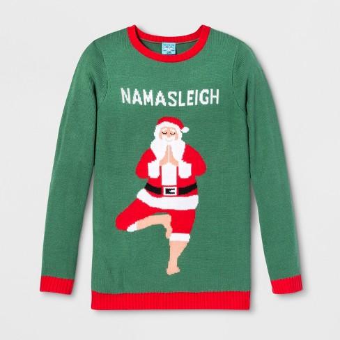 Adult Christmas Namasleigh Santa Ugly Sweater Norther Pole