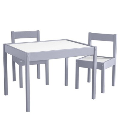 3pc Annya Kiddy Table and Chair Set Gray/White - Room & Joy