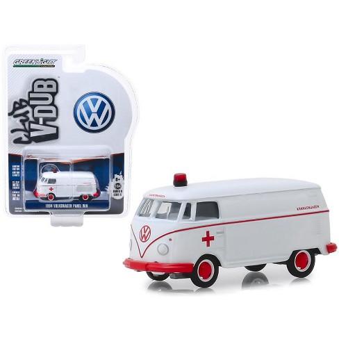 "1964 Volkswagen Panel Van Ambulance White ""Club Vee V-Dub"" Series 9 1/64 Diecast Model Car by Greenlight - image 1 of 1"