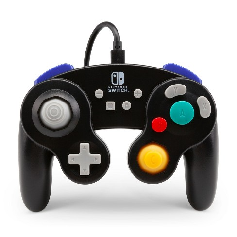 Powera Wired Gamecube Controller For Nintendo Switch Black