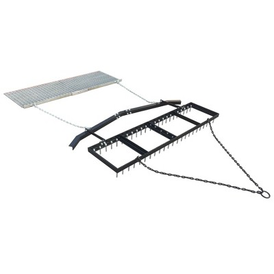 Yard Tuff 6' Spike Drag with Surface Leveling Bar and Drag Mat for ATV/UTVs