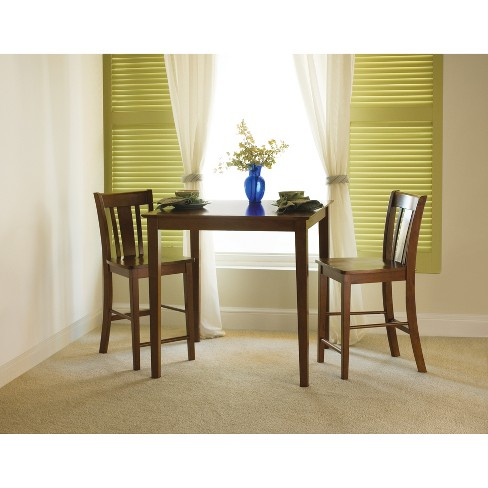 """36"""" X 36"""" 3pc Counter Height Dining Table with 2 Stools Set Espresso - International Concepts - image 1 of 4"""