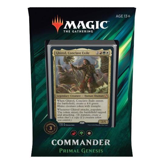 Magic The Gathering Commander Primal Genesis Deck, Kids Unisex image number null