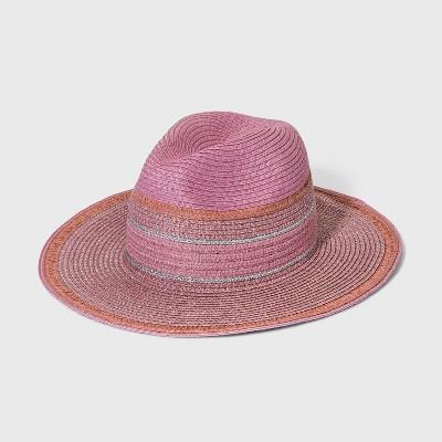 Girls' Straw Panama Hat - art class™ Pink