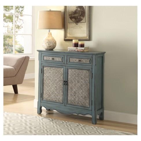 - Console Table Antique Blue : Target