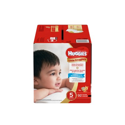 Huggies Little Snugglers Diapers - Size 5 (92ct)