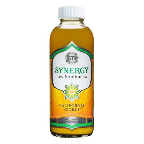 GT's Synergy Organic California Citrus Raw Kombucha - 16 fl oz - image 1 of 2