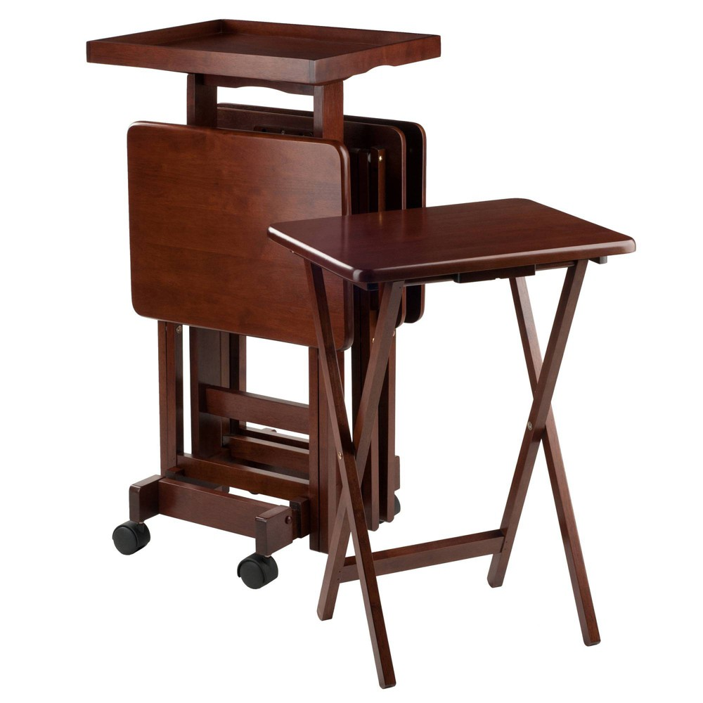 Image of 6pc Snack Table Set Walnut - Winsome, Brown