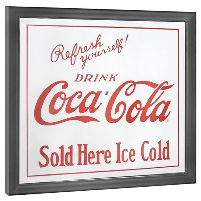 Coca-Cola Licensed Sold Here Mirror White/Red - Crystal Art Gallery