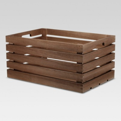 Cube Storage Basket 13 x20 x10  Brown - Threshold™