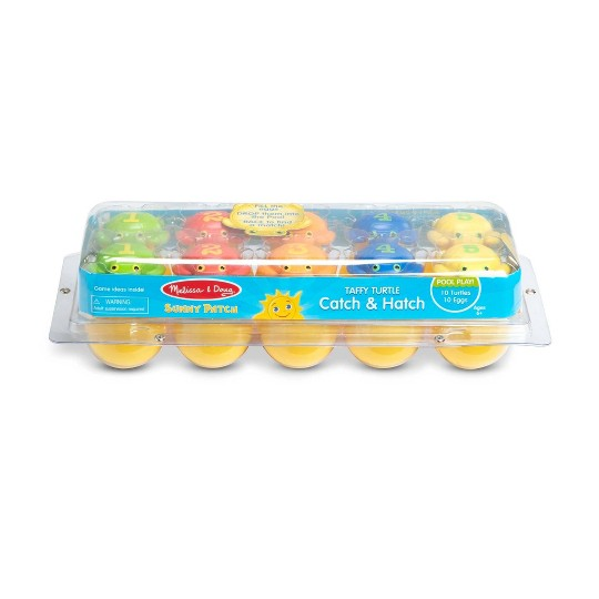 Melissa & Doug Sunny Patch Taffy Turtle Catch and Hatch Pool Game With 10 Turtles and 10 Eggs image number null