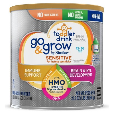 Go & Grow Sensitive by Similac Toddler Drink Non-GMO Formula Powder - 23.3oz