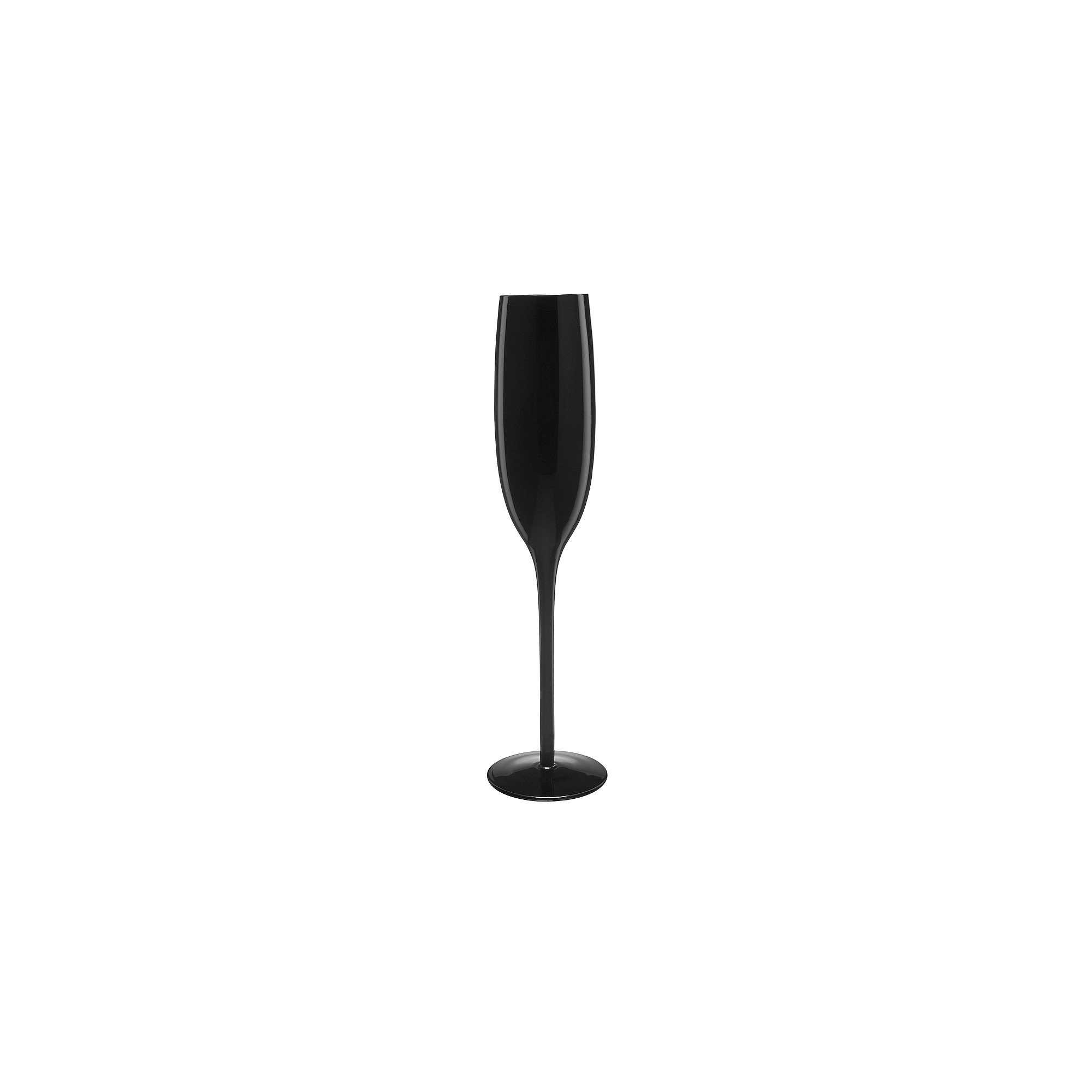 Artland 6oz 4pk Glass Champagne Flutes Black