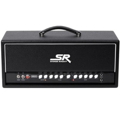 Monoprice SB20 50-Watt All Tube 2-channel Guitar Amp Head with Spring Reverb, Clean and Overdrive Channels, Powerful & Adaptable - Stage Right Series
