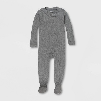Honest Baby Solid Tights Fit Footed Pajama - Blue 12M