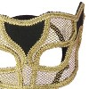 Venetian Mask Netted Gold - image 3 of 3
