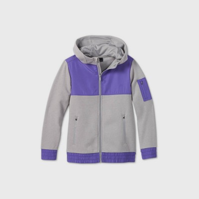 Boys' Premium Fleece Full Zip Hoodie Sweatshirt - All in Motion™
