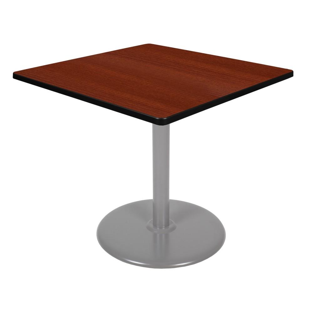 36 Via Square Platter Base Table Cherry/Gray (Red/Gray) - Regency