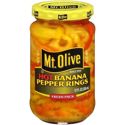 Mt. Olive Hot Banana Pepper Rings - 12oz