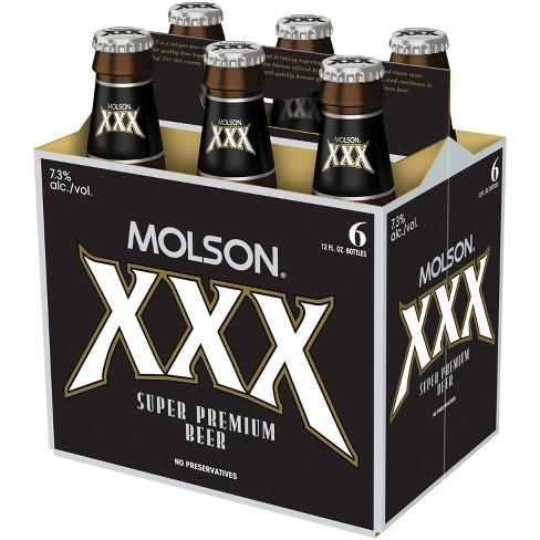 Molson XXX Super Premium Beer - 6pk/12 fl oz Bottles - image 1 of 1