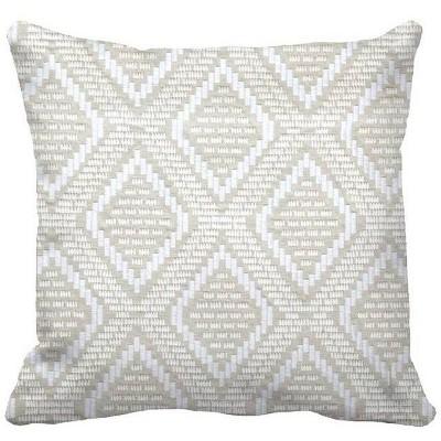 Woven Geo Oversized Square Pillow Gray/Cream - Threshold™