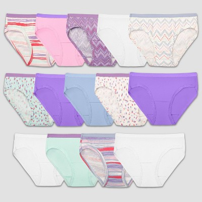 Fruit of the Loom Girls' 14pk Hipster Underwear - Colors May Vary