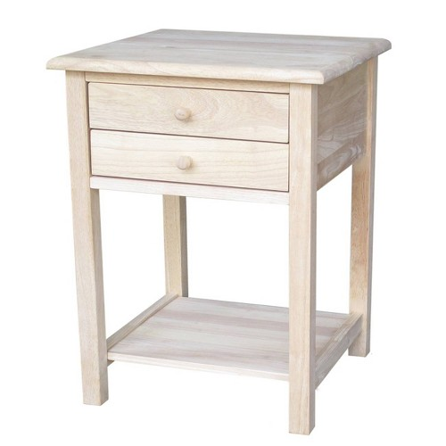 Lamp Table with 2 Drawers - International Concepts, Brown