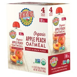 Earth's Best Apple Peach Oatmeal - 4.2oz/4pk Each