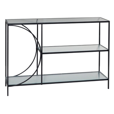 Industrial Metal Console Table Black - Olivia & May