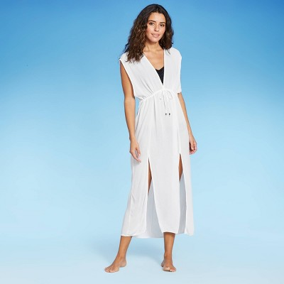Women's Tie-Front Midi Cover Up Dress - Kona Sol™