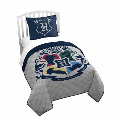 Saturday Park Harry Potter Twin Quilt - Gray