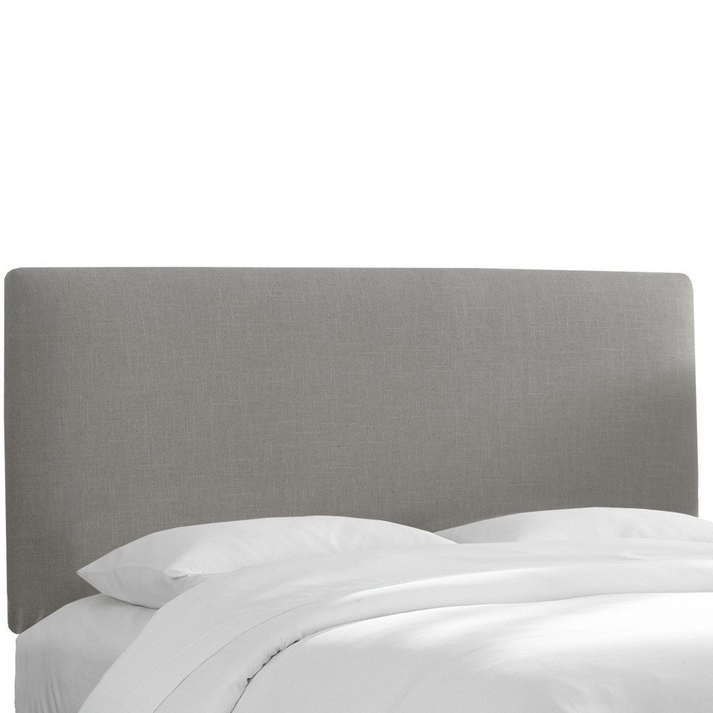 California King Olivia Upholstered Headboard Gray Linen - Cloth & Co.