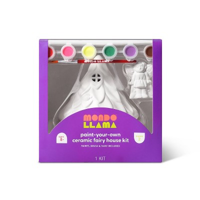 Paint-Your-Own Ceramic Fairy House Kit - Mondo Llama™
