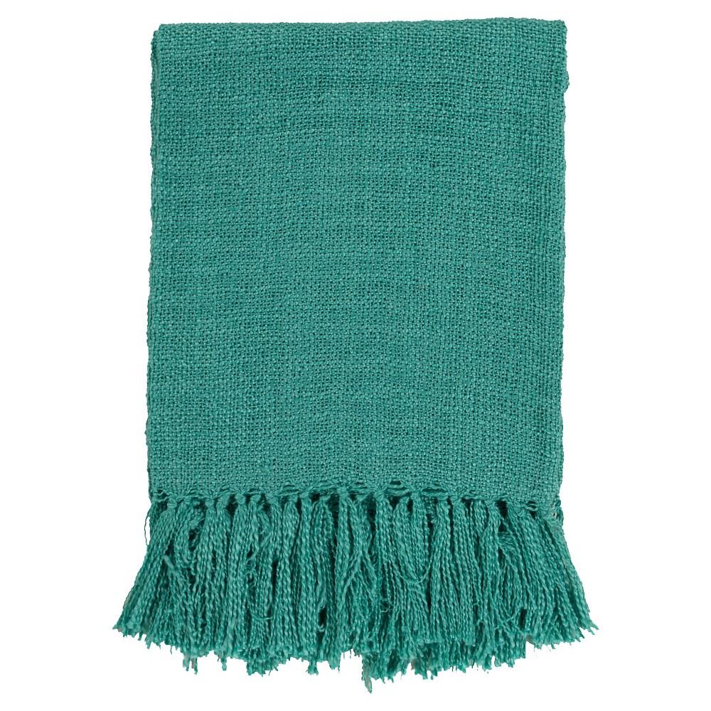 Teal (Blue) Madelyn Solid Throw 50x60 - Surya