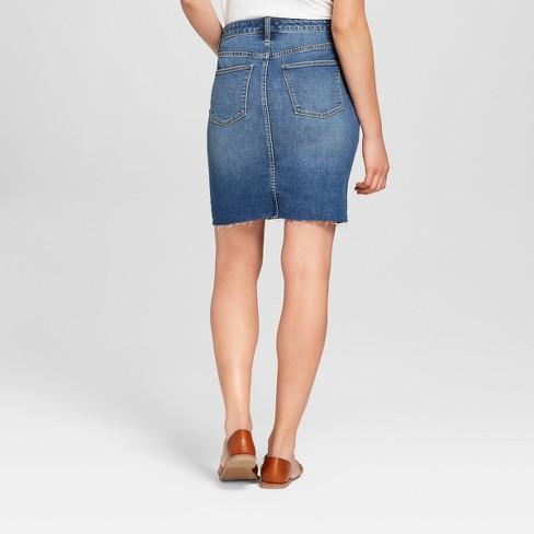 34dc499818 Women's Denim Mini Skirt - Universal Thread™ Dark Wash : Target