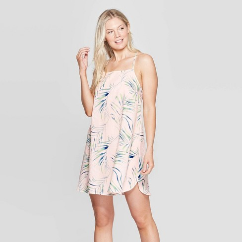 Women's Palm Print Simply Cool Sleep Chemise - Stars Above Pink™ - image 1 of 2