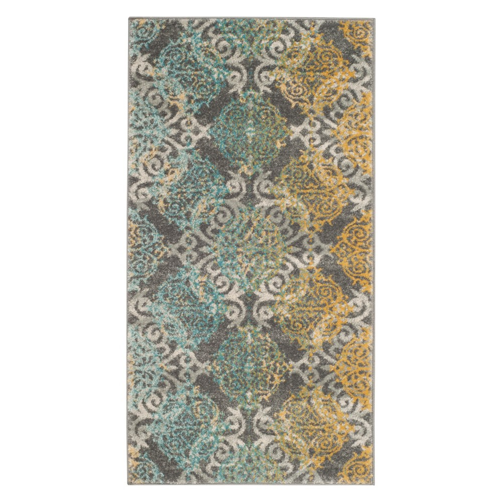Medallion Accent Rug Gray/Ivory