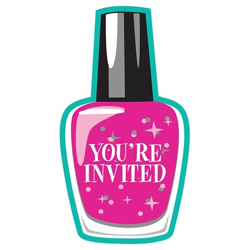 8ct Sparkle Spa Party Invitations Target