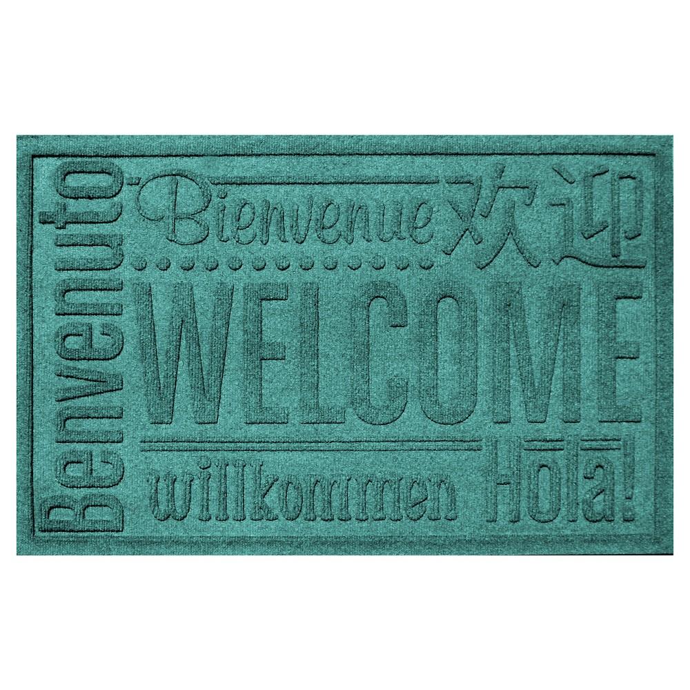 Aquamarine Typography Pressed Doormat - (2'X3') - Bungalow Flooring
